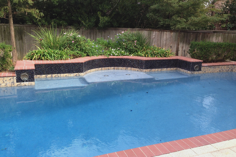 pool with wall