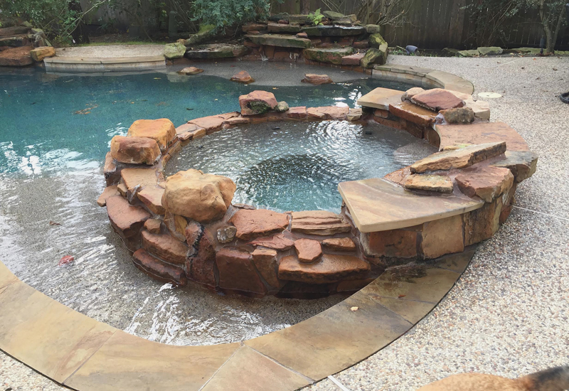 Spa And Water Feature The Woodlands Ultimate Pools