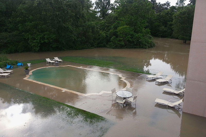 pool during flood