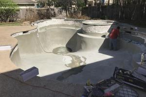 Groner remodel empty pool