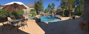 deck pool volleyball panoramic