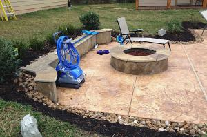 fire pit and pool equipment