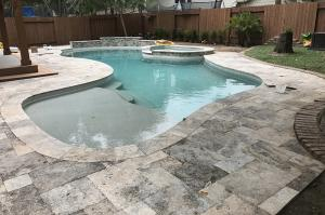 new pool deck steps