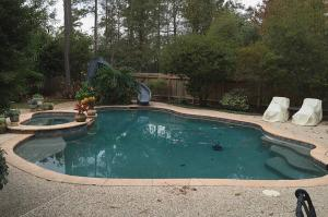 open free form pool spa woodlands