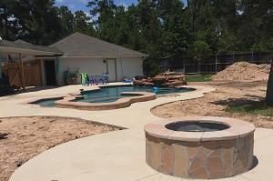 pool dirt piles