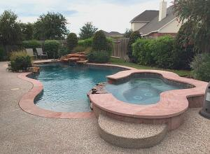 pool spa decking