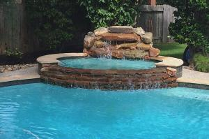 pool spa waterfall
