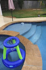 pool step hoop