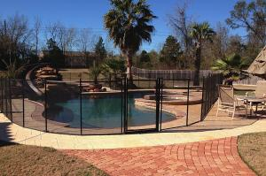 pool with fence