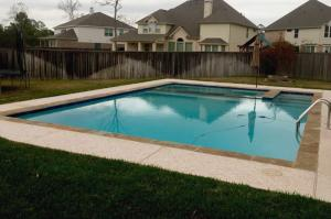 rectangular pool spa