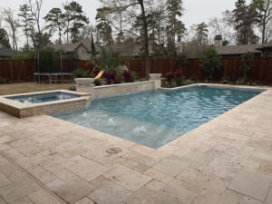 Coxon pool deck wall spa spring